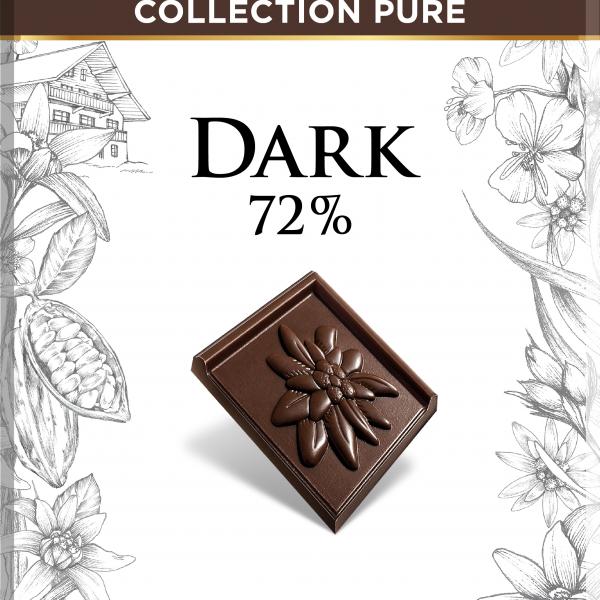 Черен Натурален Шоколад 72 % Какао