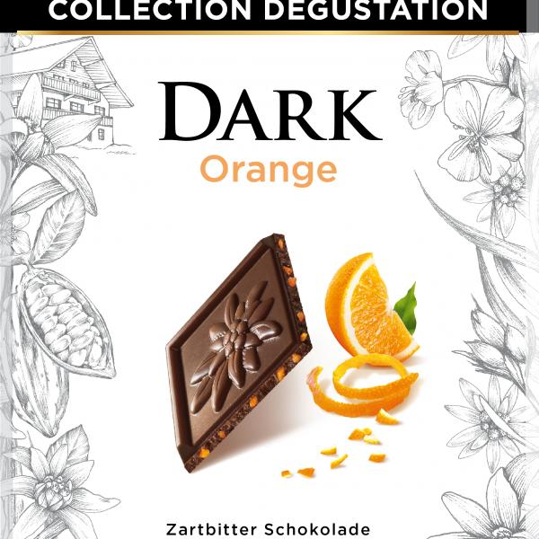 Тъмен шоколад и захаросани портокалови кори