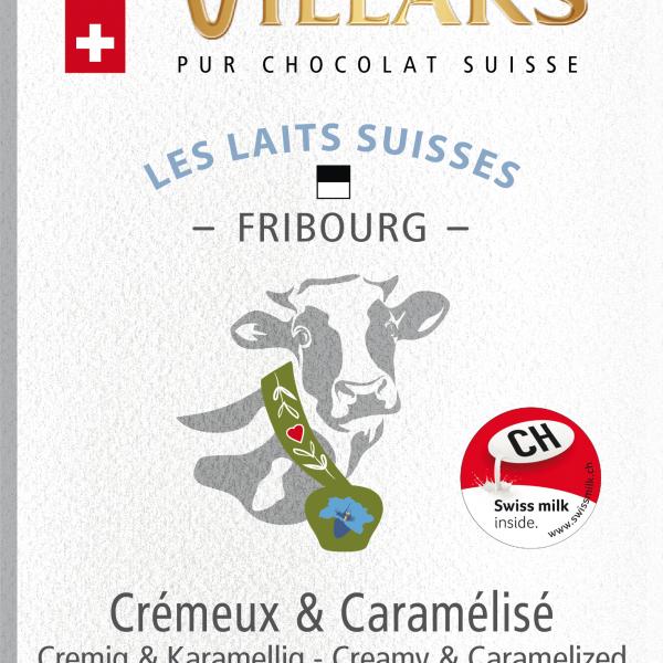 Швейцарски млечен шоколад с мляко от окръг Фрибург