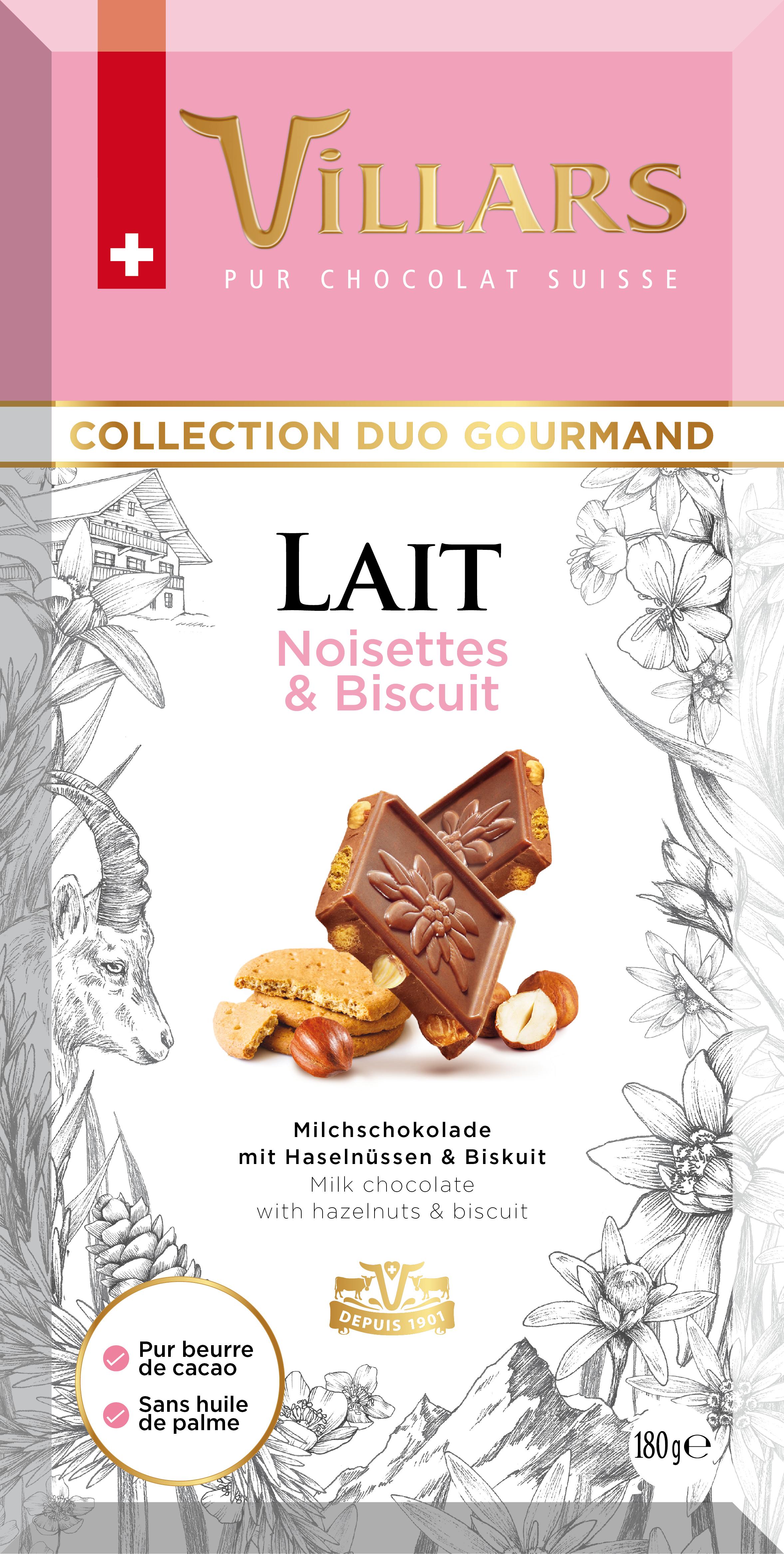 Млечен шоколад с лешници и бисквити
